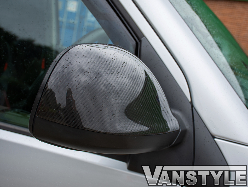 Real Carbon Fibre Mirror Covers - VW T6 2015>