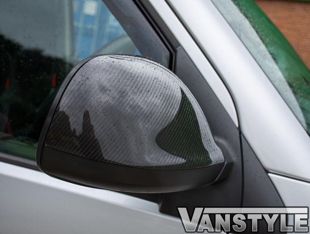 Real Carbon Fibre Mirror Covers - VW T5 10-15 & Amarok 10>