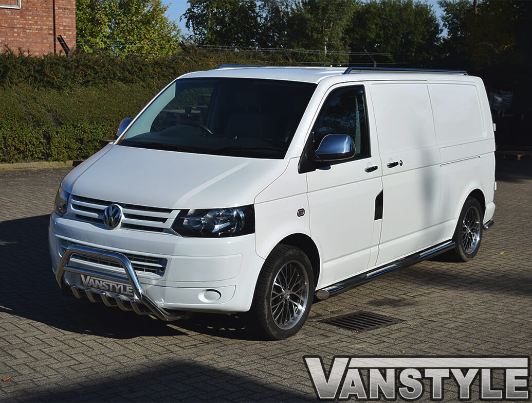 VW T5.1 Stainless Steel Toothed A-Bar / Bull Bar