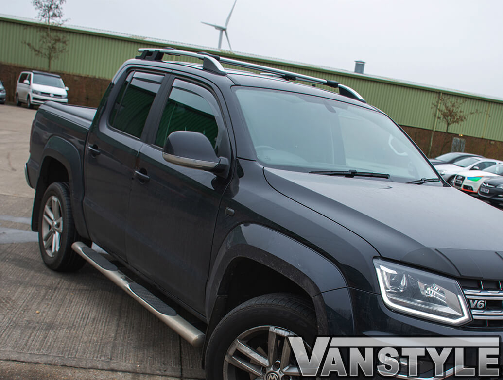 VW Amarok Silver Aluminium Roof Rails & Cross Bars