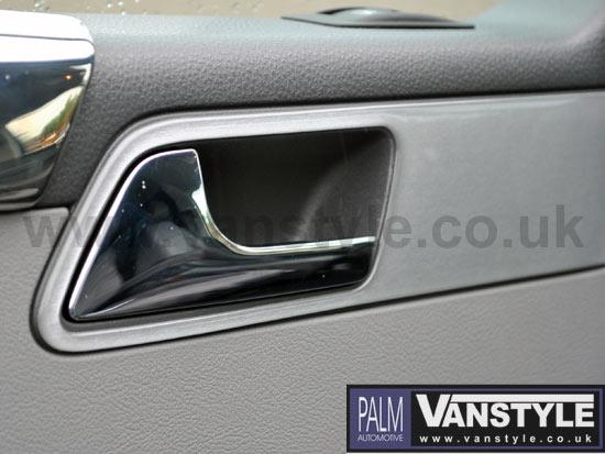 Genuine Vw T5 Pair Of Stainless Steel Door Levers Vanstyle
