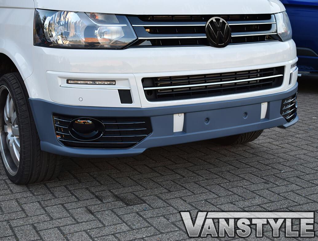 VW T5 10-15 Sportline Style Front Splitter + Fog Light Pods