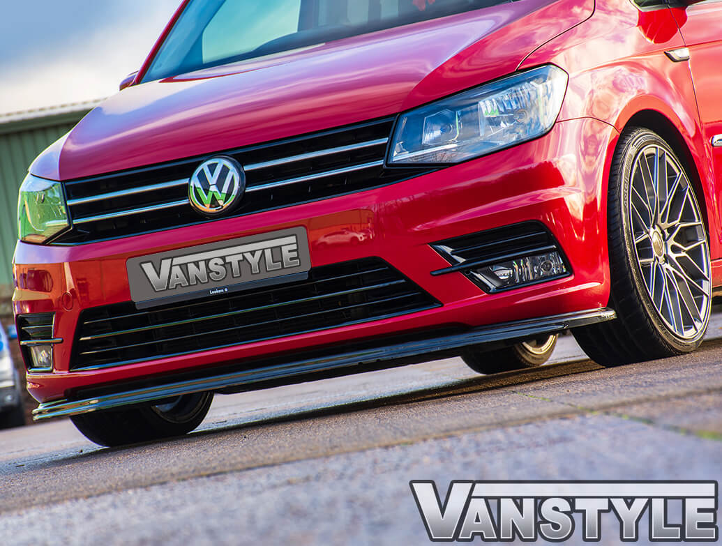 VW Caddy & Maxi 2015>21 2Pcs Stainless Front Grille Trim
