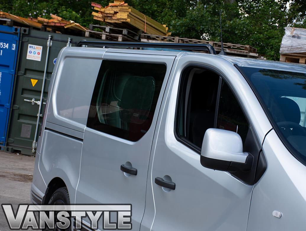 Black Powder Coated Roof Bars - Trafic NV300 Vivaro Talento