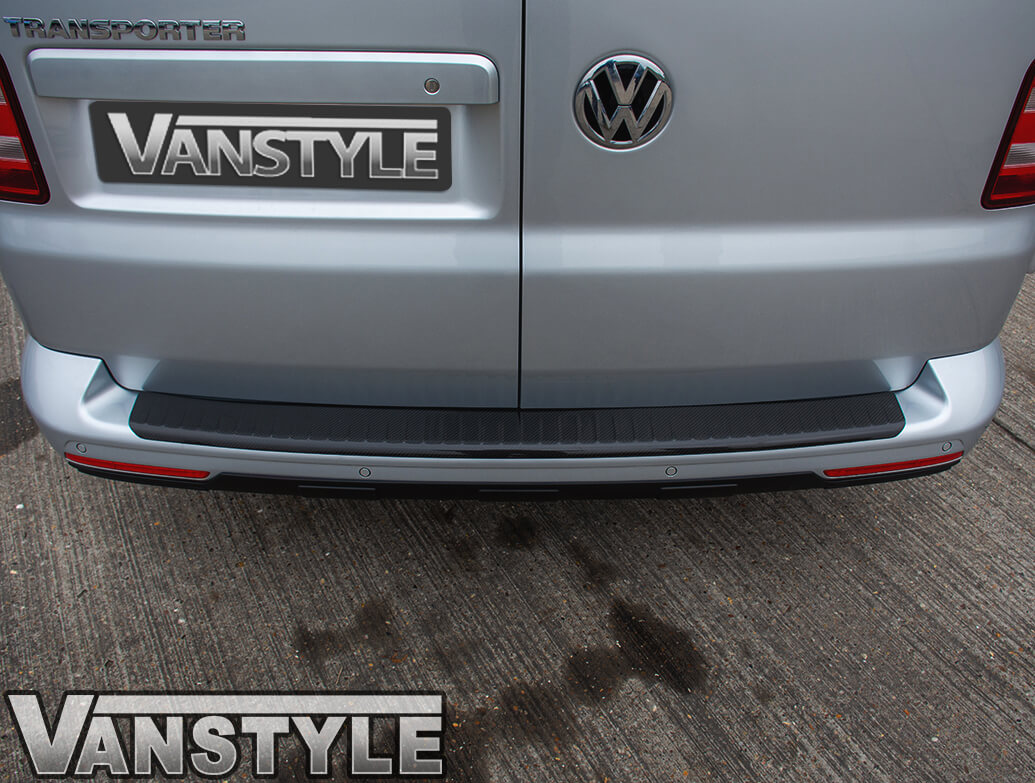 VW T6 Twin Door 15> Real Carbon Fibre Bumper Protector