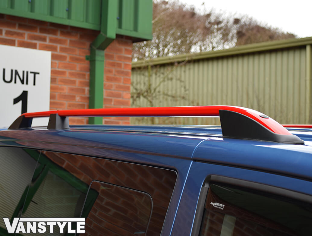 VW T5 & T6 \'Red Edition\' Aluminium Roof Bars