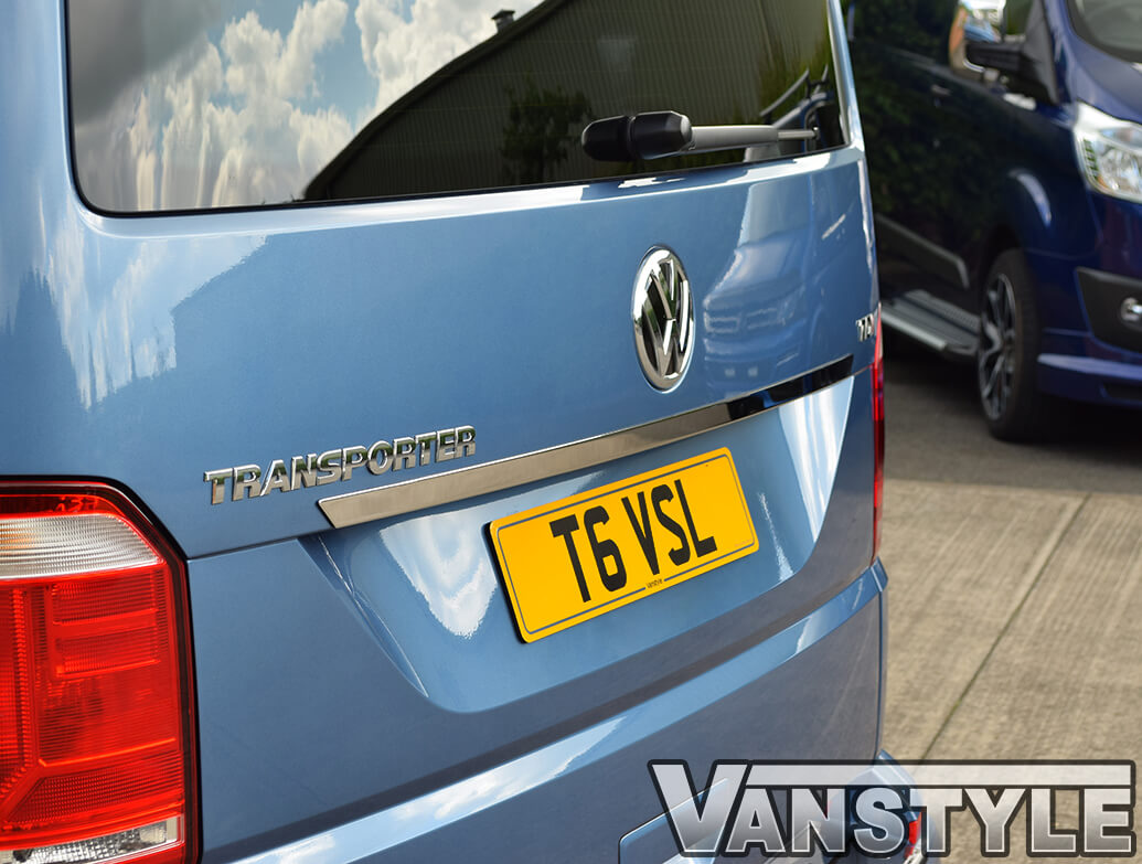 Polished S.Steel Above The Number Plate Trim - VW T6 T6.1 2015>