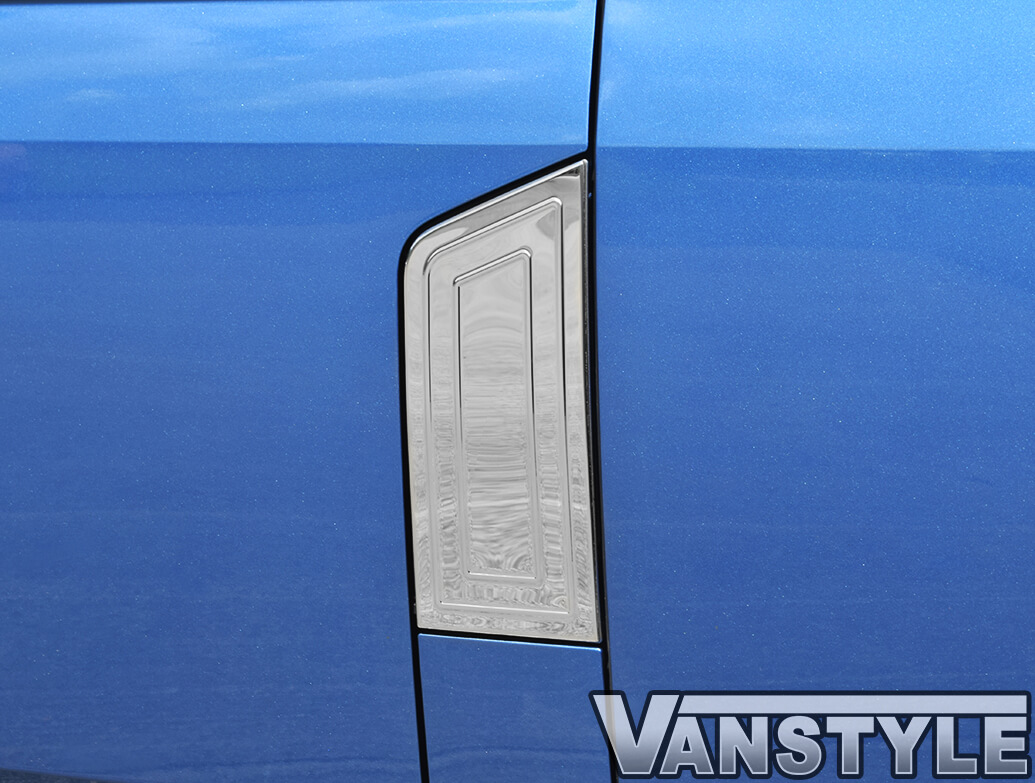 Polished Stainless Steel Fuel Flap Cover - VW T6 2015>