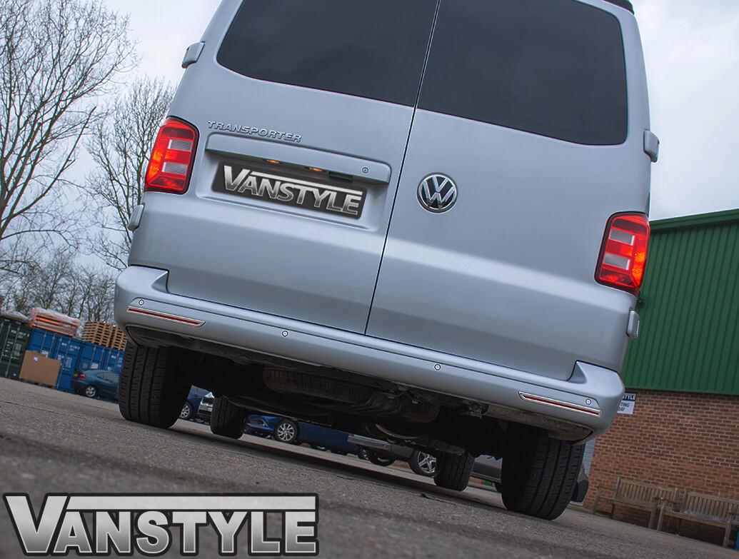 VW T5 & T6 S.Steel Rear Bumper Reflector Surround Trim