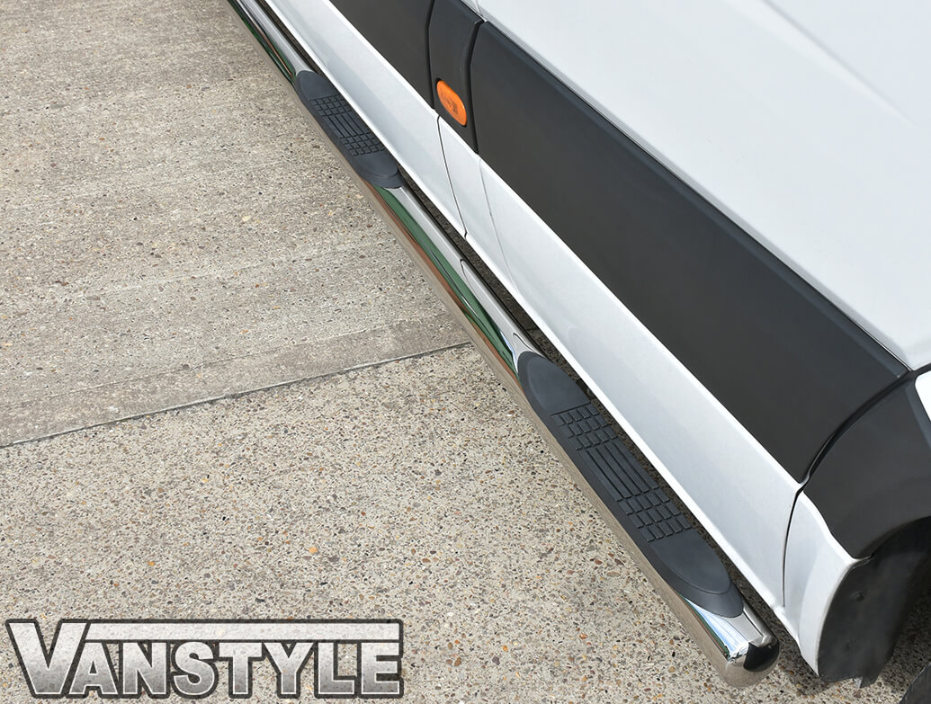 76mm Stainless Steel Side Bars (3xSteps) Crafter/Sprinter