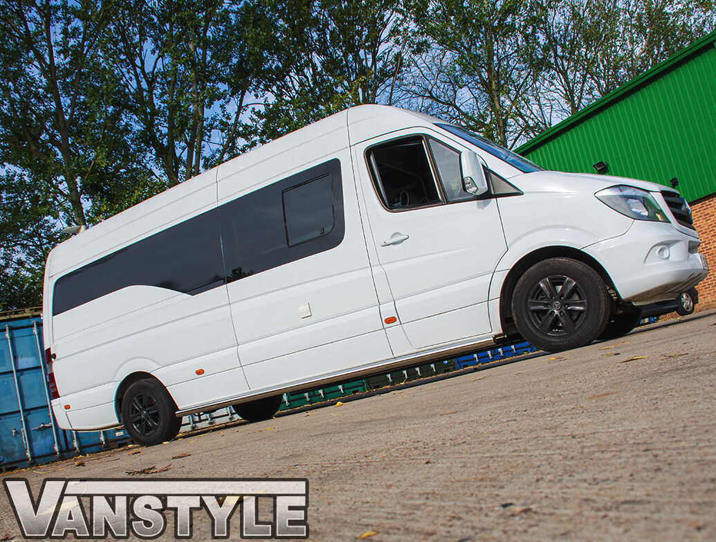 76mm Stainless Steel Side Bars VW Crafter/Mercedes Sprinter