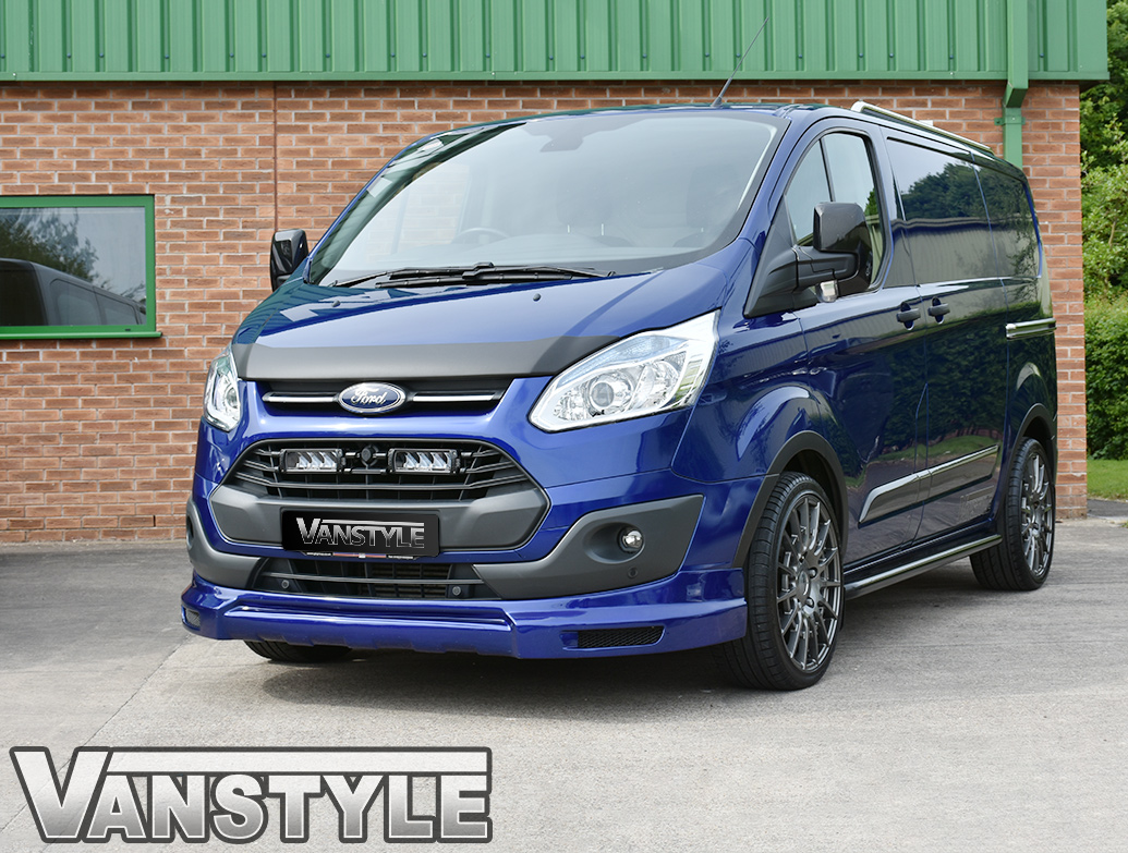 Ford Transit Custom 2012-2018 Black ABS Bonnet Chip Protector