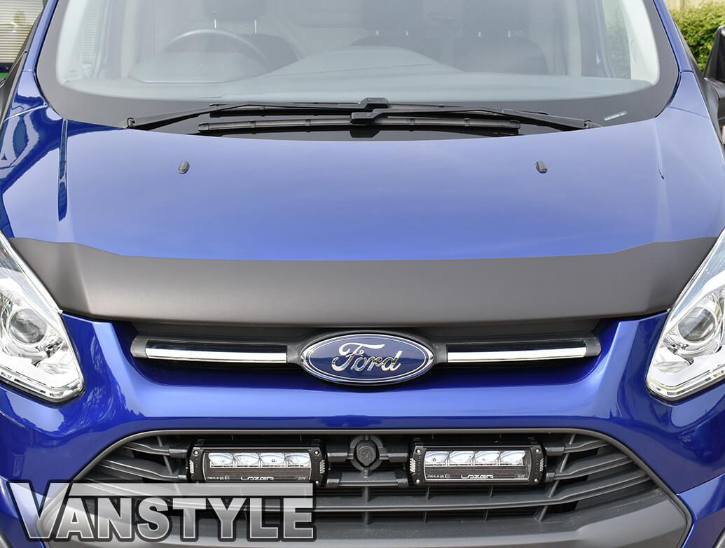 Ford Transit Custom 2012-2018 Black ABS Bonnet Chip Protector