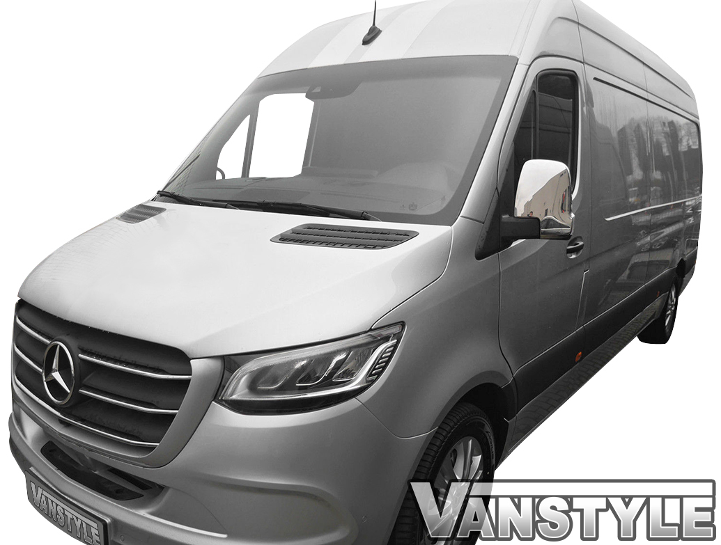 Polished Stainless Steel Mirror Covers - Mercedes Sprinter 18>