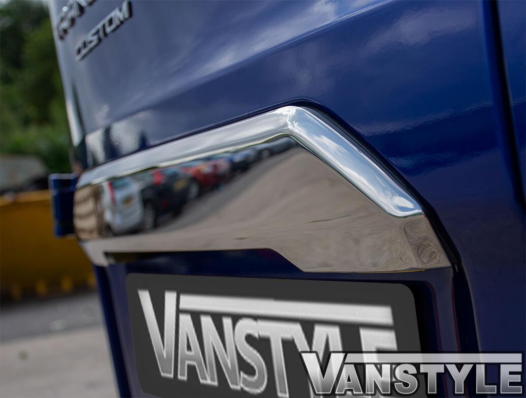 Polished S.Steel Twindoor Rear Grab Handle - Ford Transit Custom