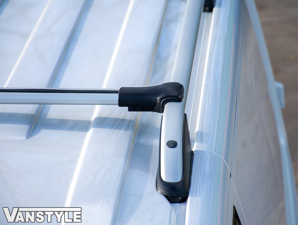 Silver Aluminium Cross Bar Set - Dispatch/Expert/Proace 16>
