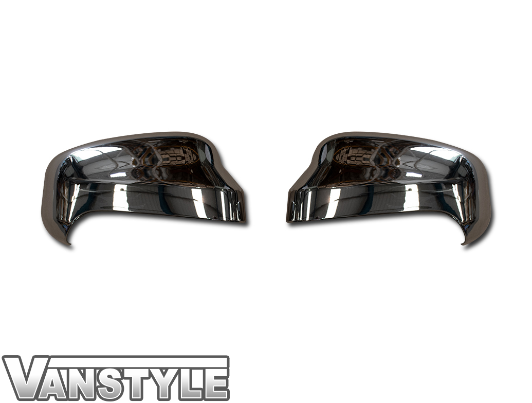 2PC ABS Chrome Wing Mirror Covers - Ford Courier 2018>
