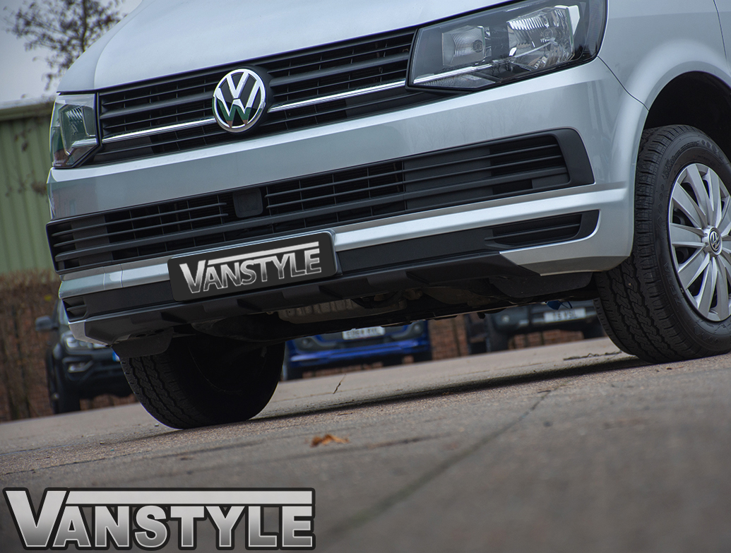 ABS Textured Black Front Bumper Protector Skid Plate - VW T6 15>