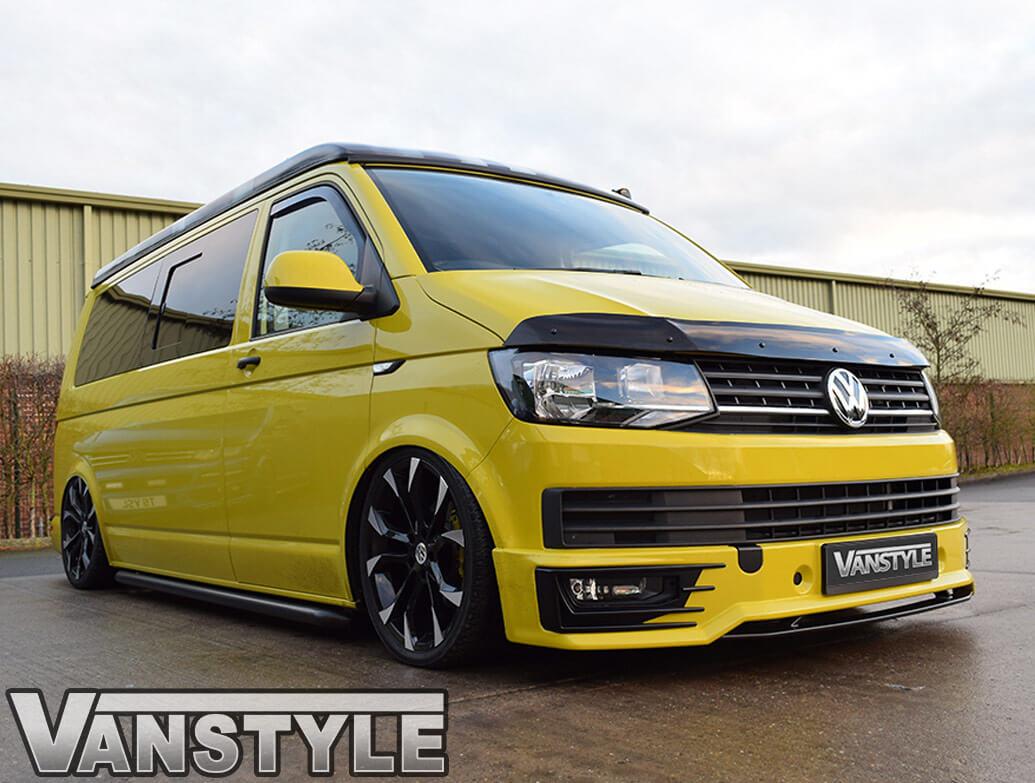 VW T6 15> Sportline Black Lower Front Splitter Lip Replacement