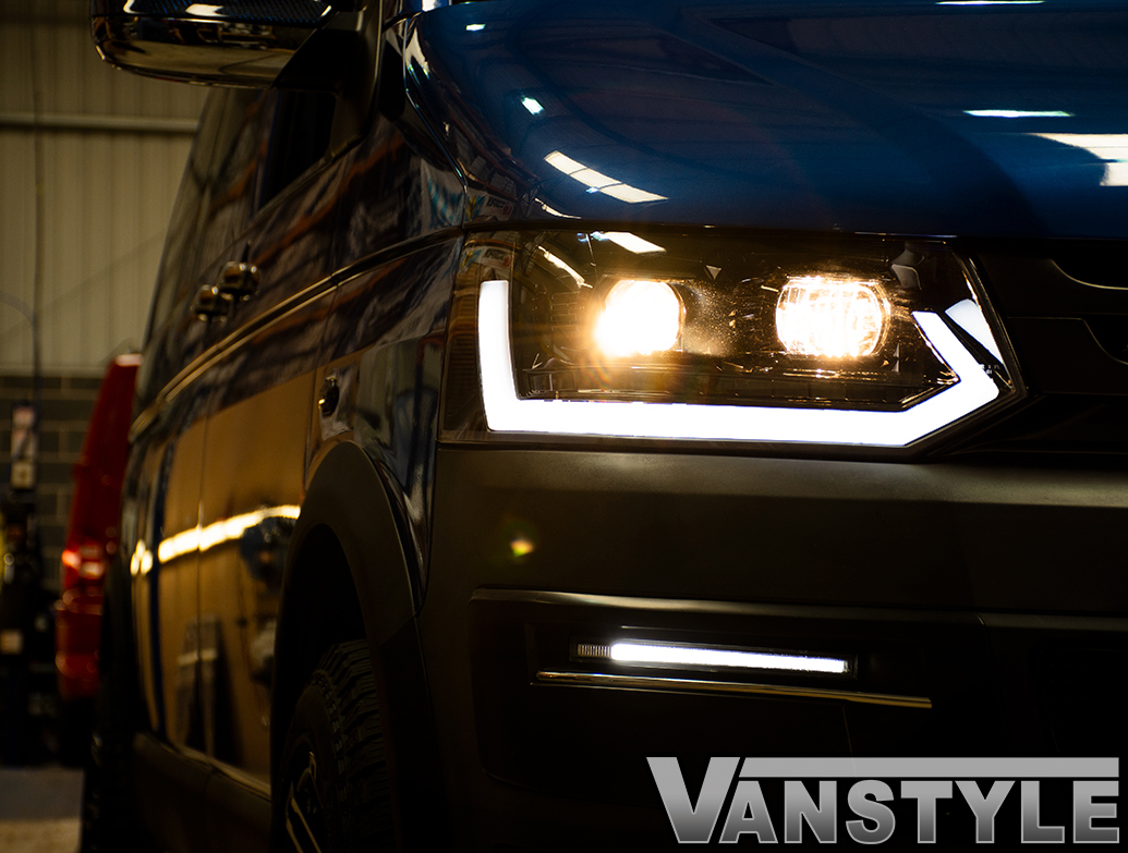 Dynamic DRL Sequential Indicator Headlights - VW T5 2010-2015