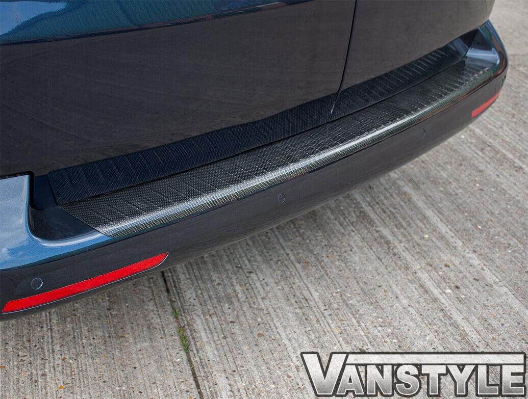 Carbon Fibre Silver Fleck Rear Bumper Protector VW T5 03-15