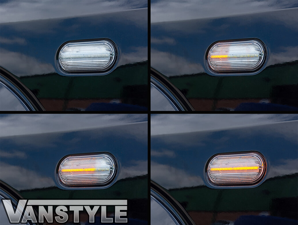 LED Sequential Side Repeaters - Clear – VW T5 & Amarok
