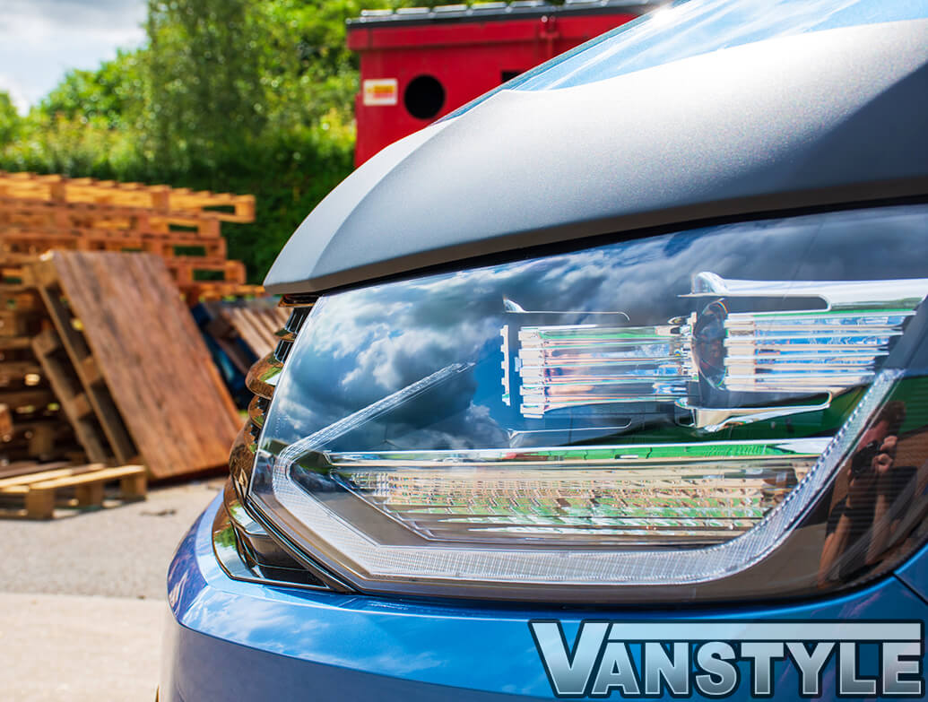Full Width Black ABS Bonnet Protector - VW T6 T6.1 2015>