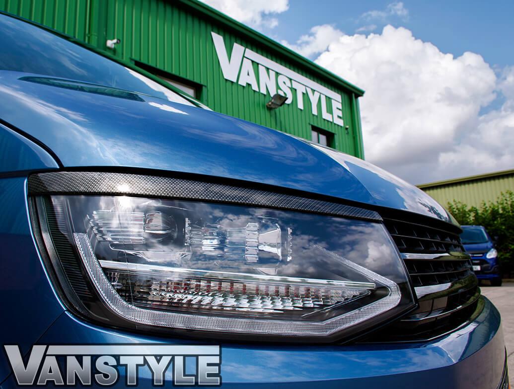 ABS Front Headlight Brows Carbon Fibre - VW T6 2015 - 2019