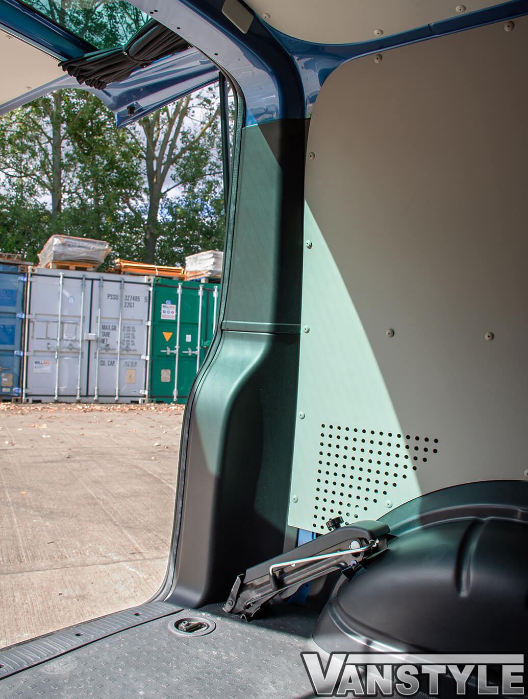 Rear Door ABS Black Inner Pillar Guard Covers - VW T5 & T6