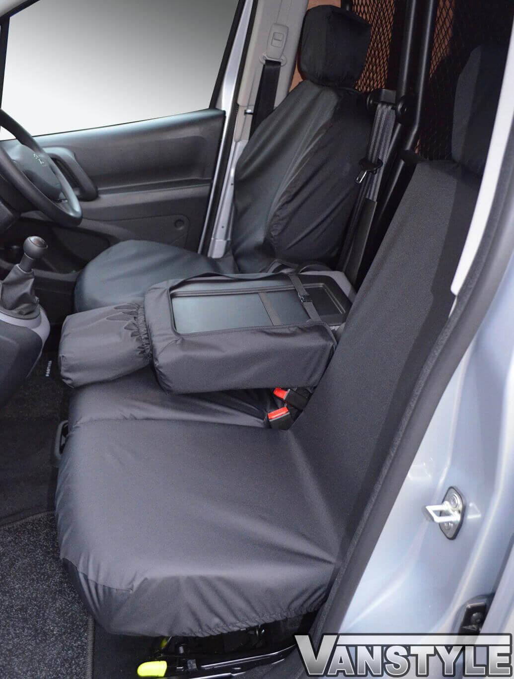 100% Waterproof Black Seat Covers Berlingo/Partner/Combo 18>