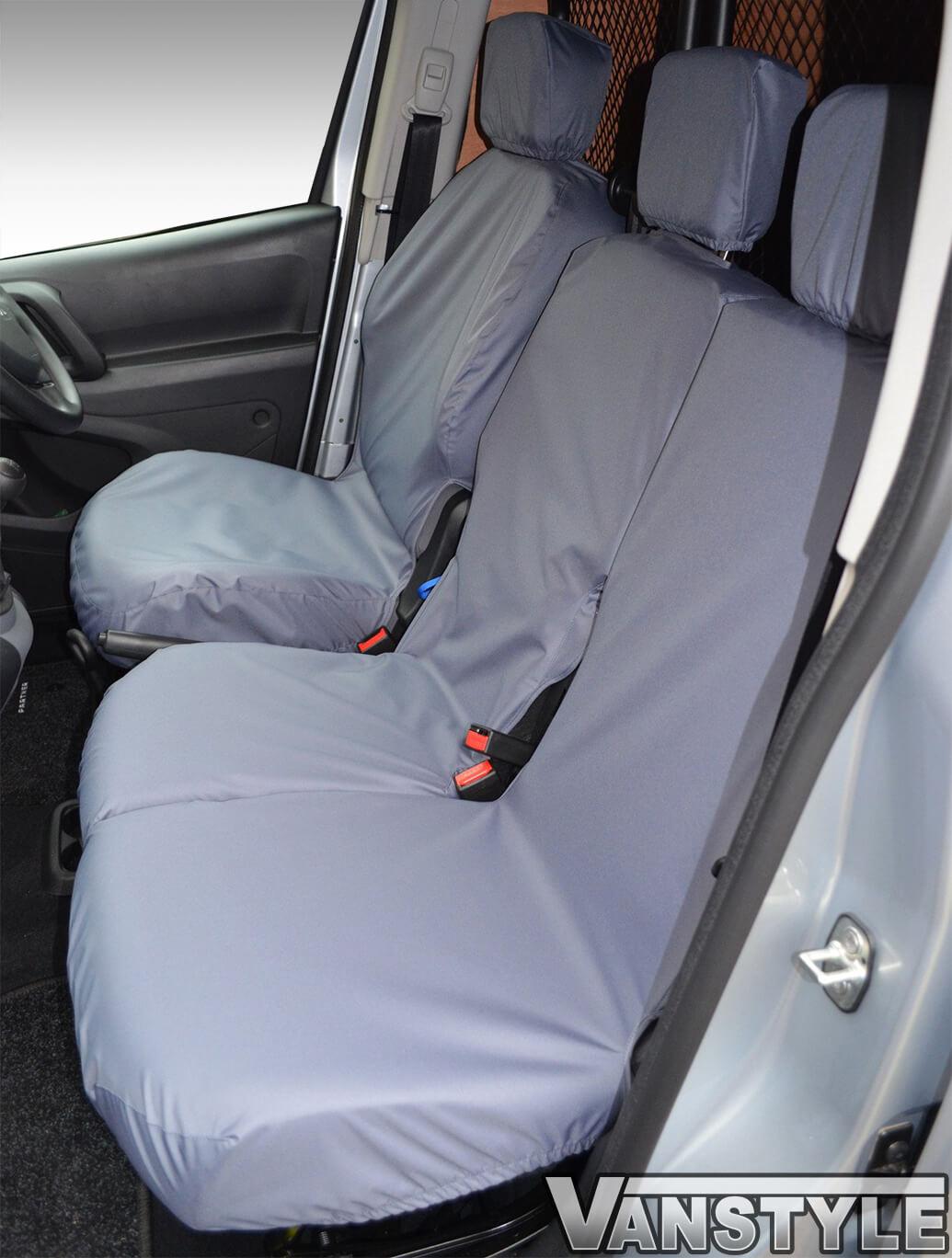 100% Waterproof Grey Seat Covers Berlingo/Partner/Combo 18>