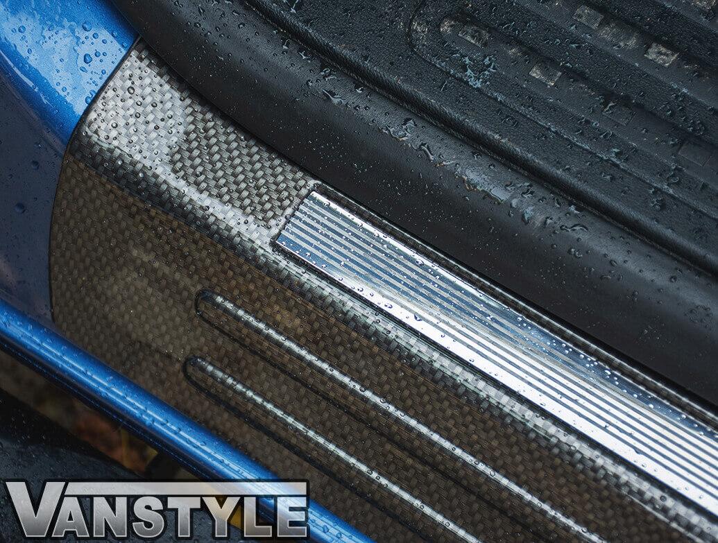 Carbon Fibre Effect ABS Front Sill Entry Guards - VW T5 & T6