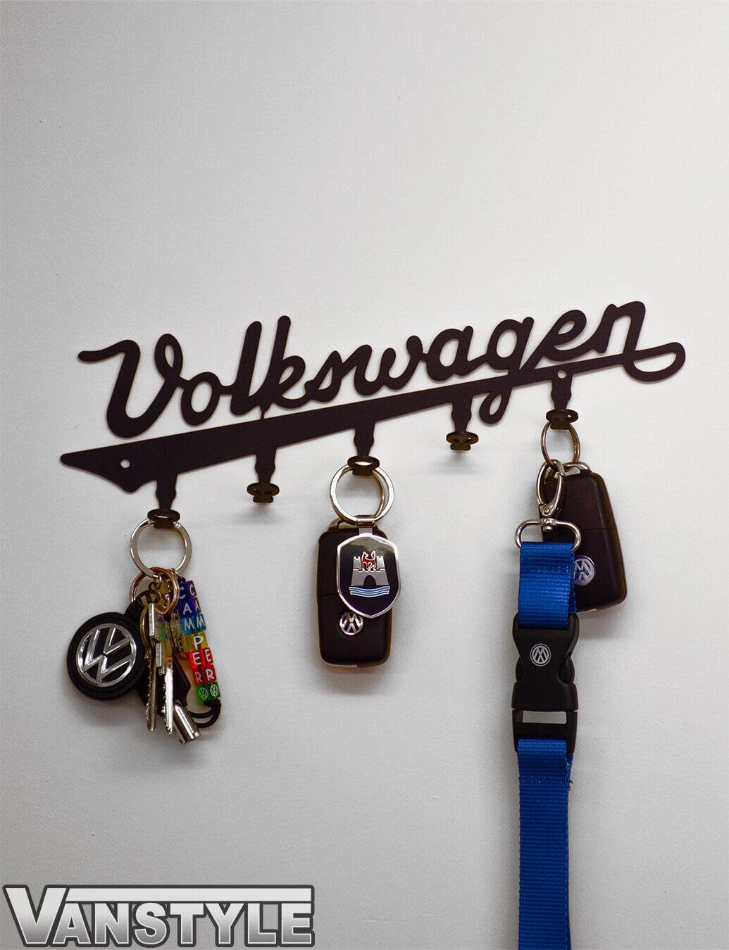"Genuine VW Vintage \""Volkswagen\"" Logo Key Ring Holder"