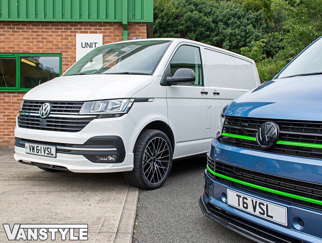 VW T6.1 Transporter & Caravelle - Front Lower 2Pcs Splitter