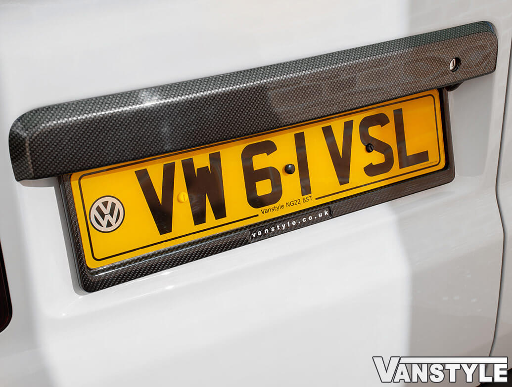 Genuine Carbon Fibre Weave - UK EU Number Plate Frame Surrounds