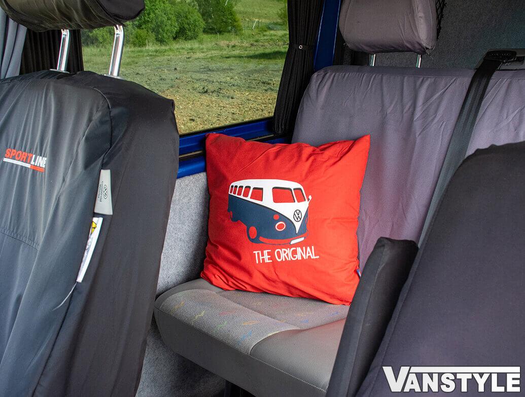 Genuine VW Campervan Heritage Cushion - Red