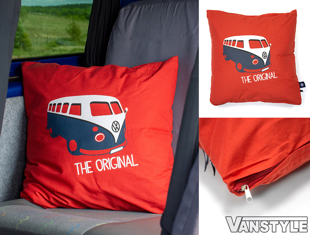 Genuine VW Campervan Heritage Cushion - Red