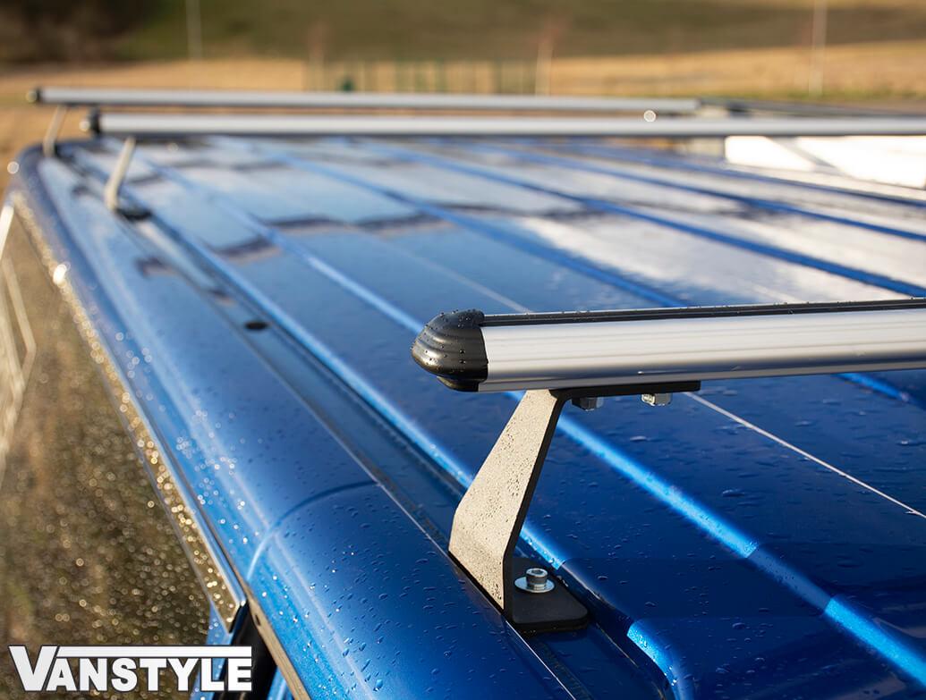 Silver Heavy Duty Cross Bars x3 - VW T5 T6