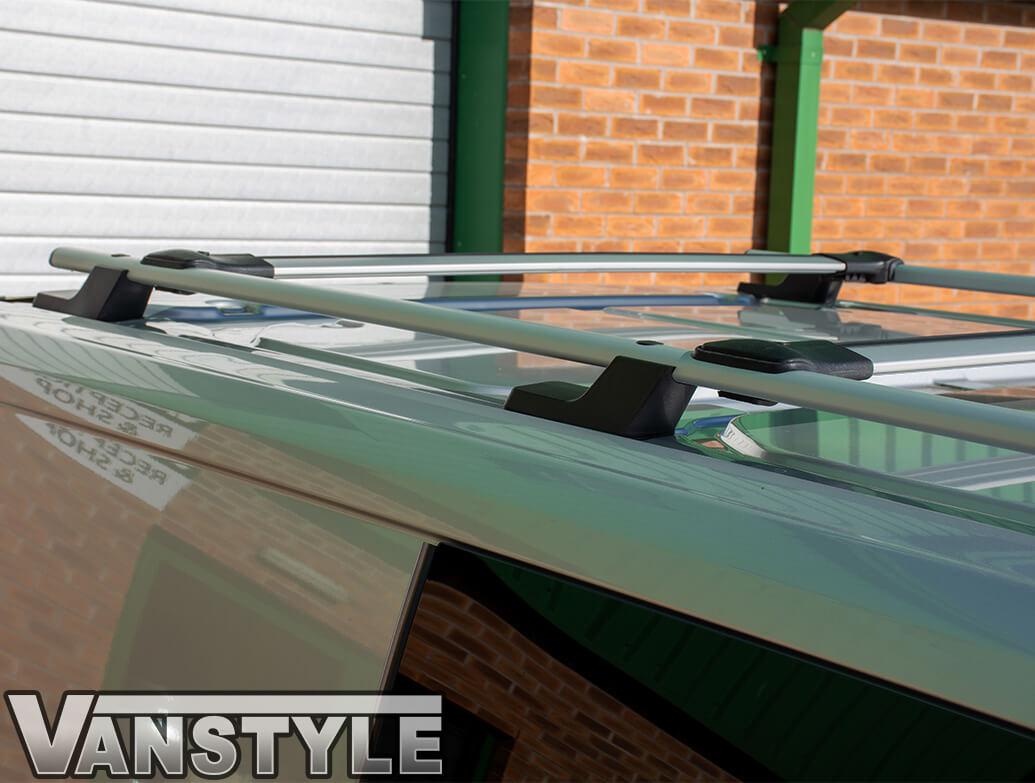 Roof Rail + Cross Bar Set Silver Aluminium Ford Transit Custom