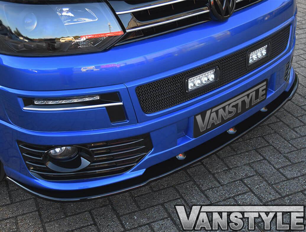 VW T5 10-15 Sportline Style Front Spoiler + Fogs + Splitter