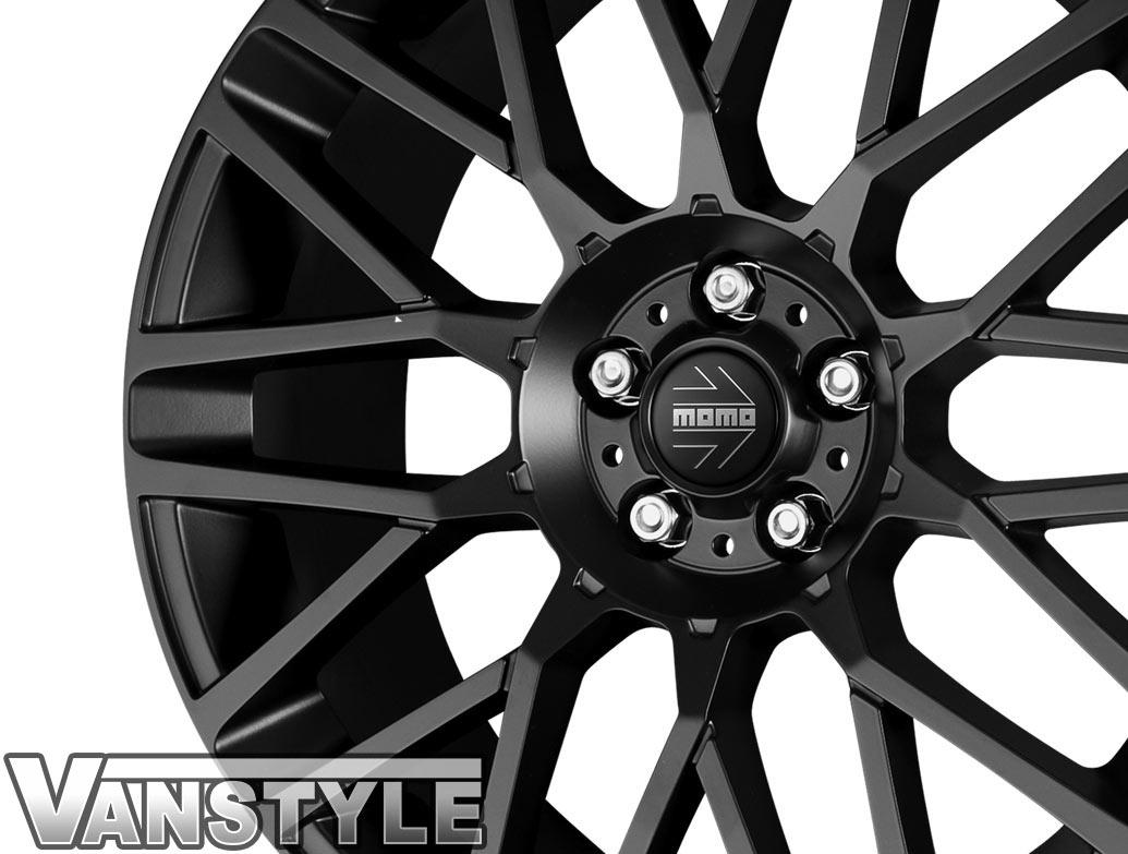 """MOMO Revenge Matte Black 18\"""" VW T5 T6 Alloy Wheels"""