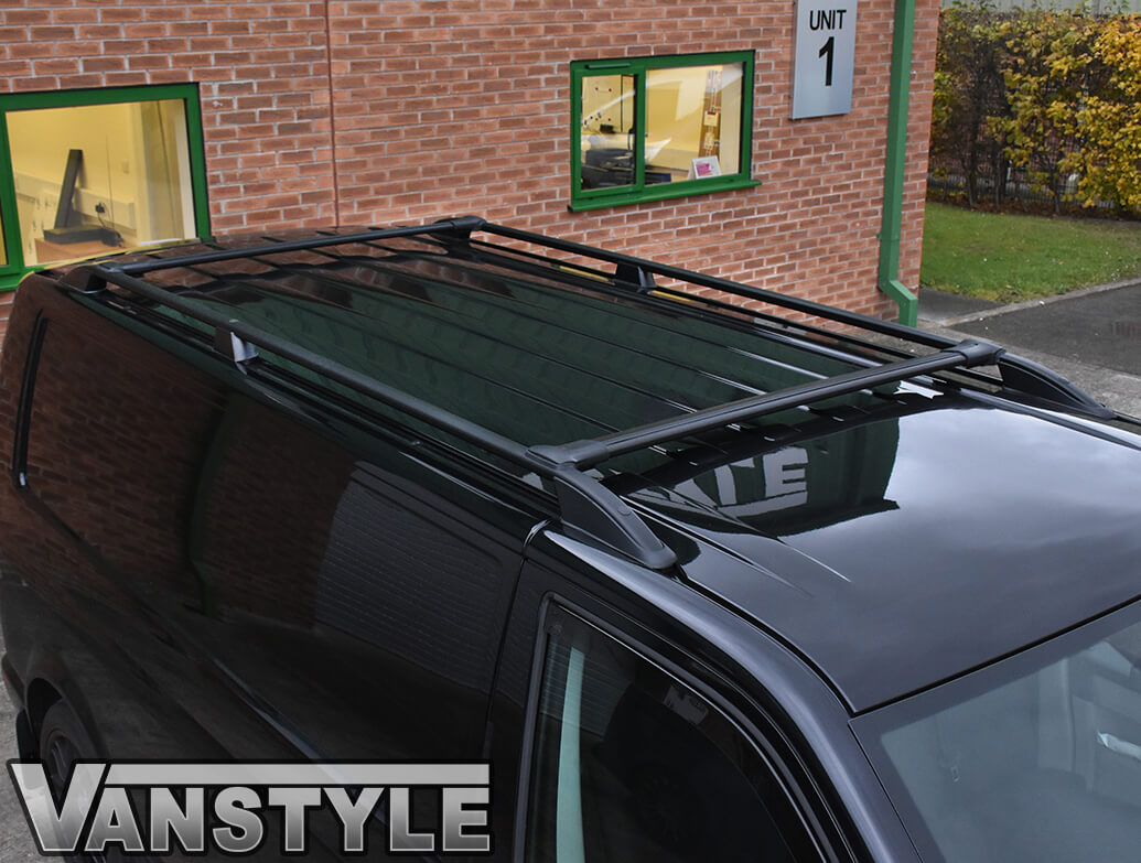 Aluminium Black Roof + Cross Bar Set Vivaro 14>19 / Trafic 14>