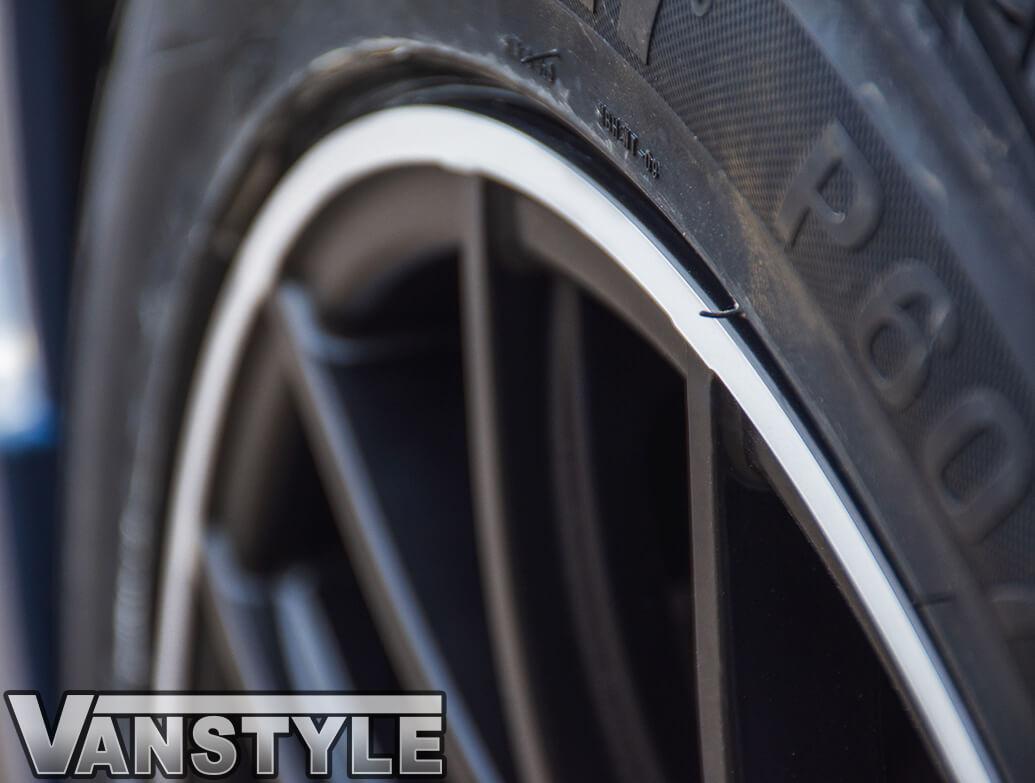 "Wolfrace Munich 18\"" Matte Black & Polished Lip - VW T5/T6 W&T"