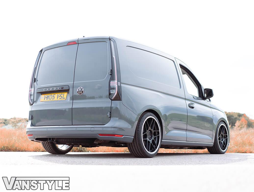 """3SDM 0.09 Matte Black 19\"""" Alloy Wheel & Tyre Set - VW Caddy 04>"""