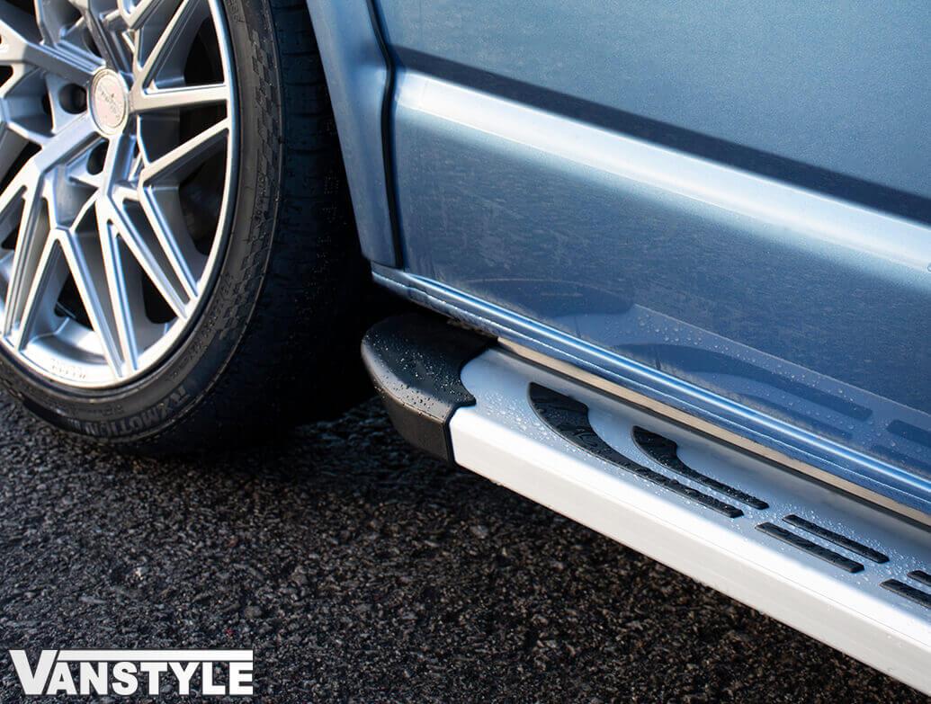 Silver Thoresby Style Aluminium Side Steps - VW T4 SWB 90>03