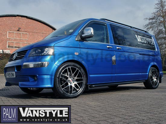 Vanstyle Sport 60mm Black Steel Sidebars Vw T5 T6 Black