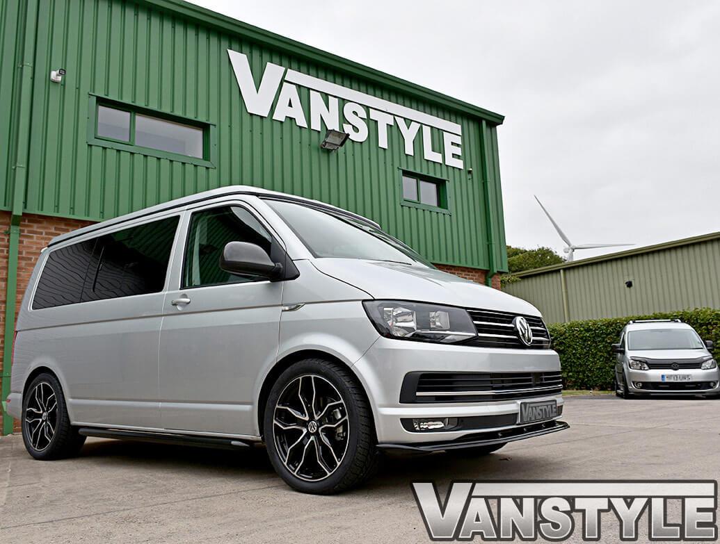 Vanstyle Sportline Style 60mm Black Steel Sidebars VW T5 T6