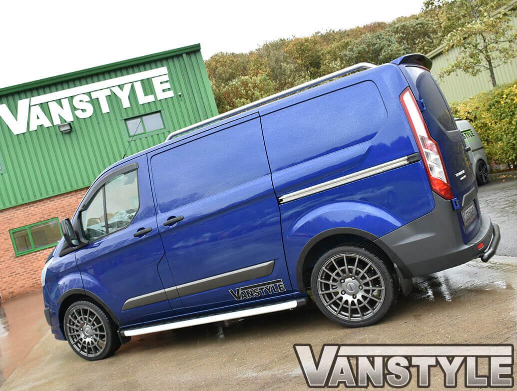Clumber Style Aluminium Side Steps - Vauxhall Vivaro LWB 01>14