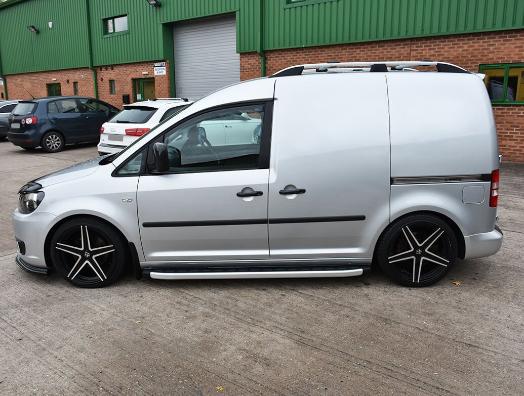Clumber Style Aluminium Side Steps - Ford Connect SWB 14>