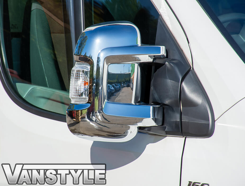 Ducato Boxer Relay Chrome Door Mirror Covers 06>